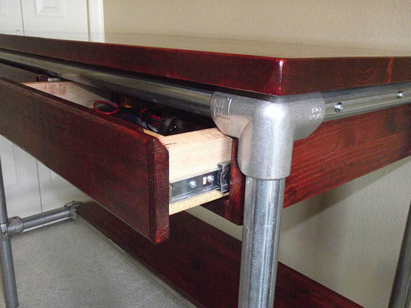Maker Table with Drawer Mod