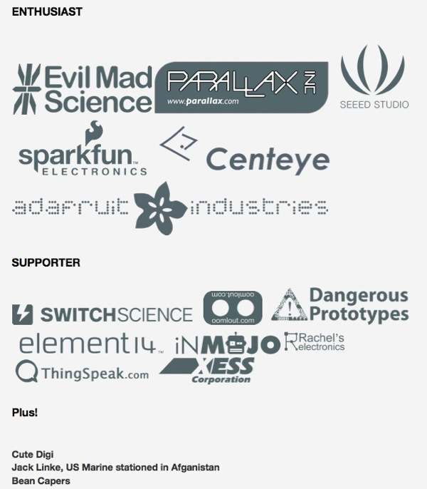Open Source Hardware Sponsor Page
