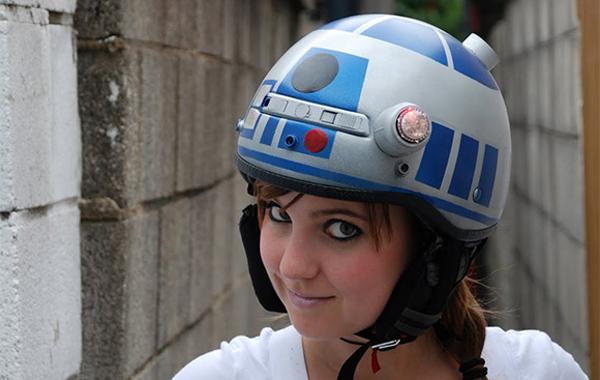 R2D2 Motorcycle Helmet