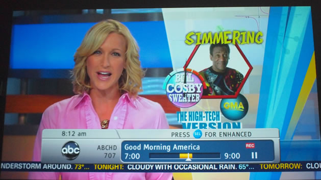 Andrew's Cosby Sweater on Good Morning America