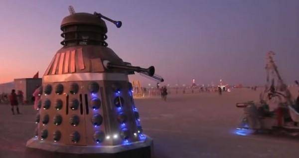 Dalek Art Car at Burning Man