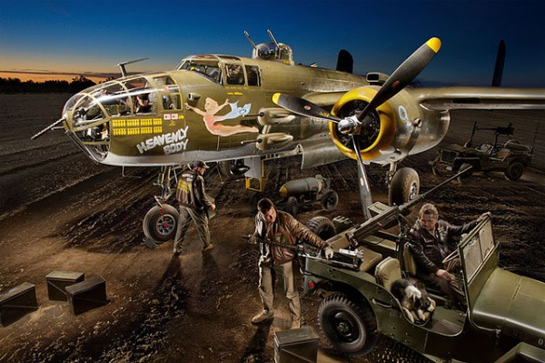 Light Painting a B-25 Bomber