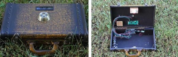 Reverse Geocache Briefcase Unlocks in the Right Spot