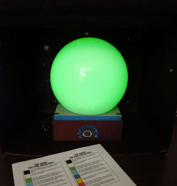 Arduino Controlled Crystal Ball Detects Mood
