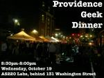 Providence Geek Dinner is Tonight at AS220 Labs–Featuring Local RI Makers