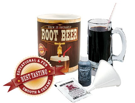 In the Maker Shed: Brew it Yourself Root Beer Kit