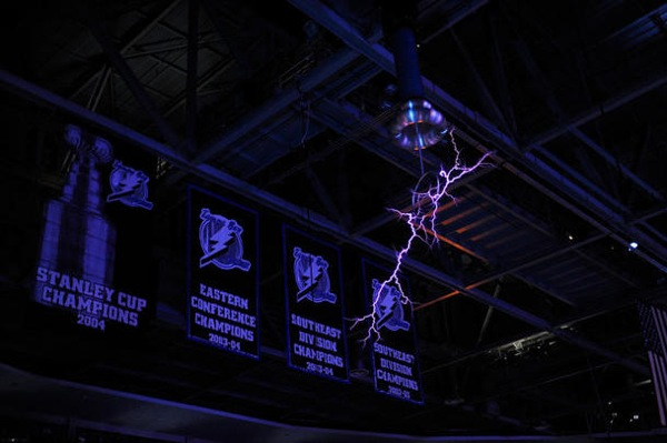 News From The Future: Tesla Coils At Sporting Events