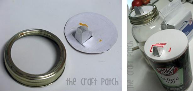 Reuse a Salt Container as a Pour-spout Jar Lid