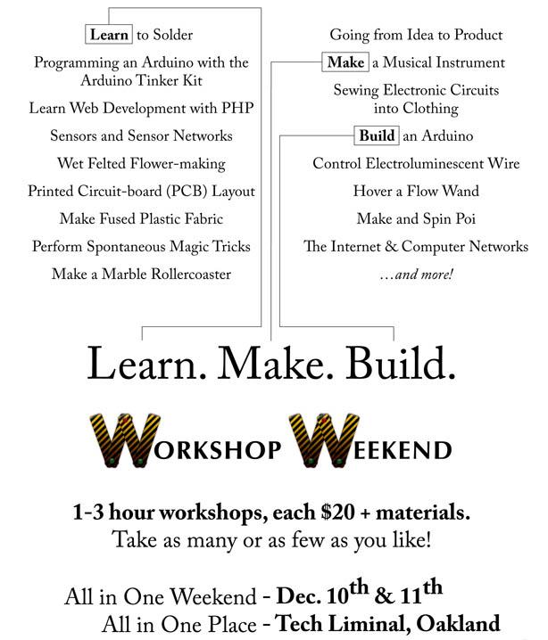Workshop Weekend Registration