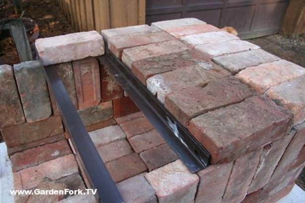 Knock Down Pizza Oven From Bricks Scrap Iron Make