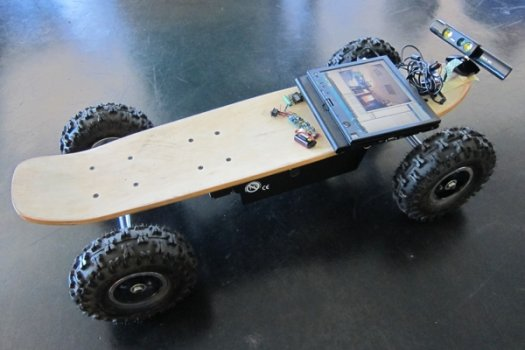 Kinect-Controlled Skateboard