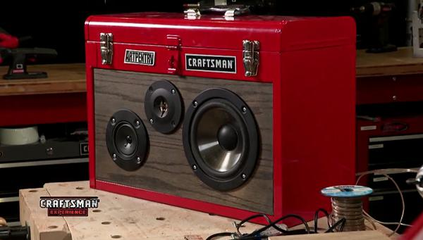Boombox in a Toolbox