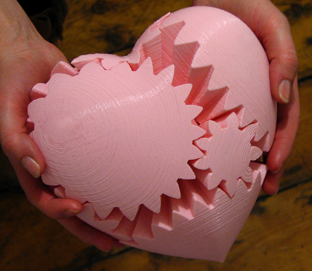 Giant Pink Printable Gear Heart