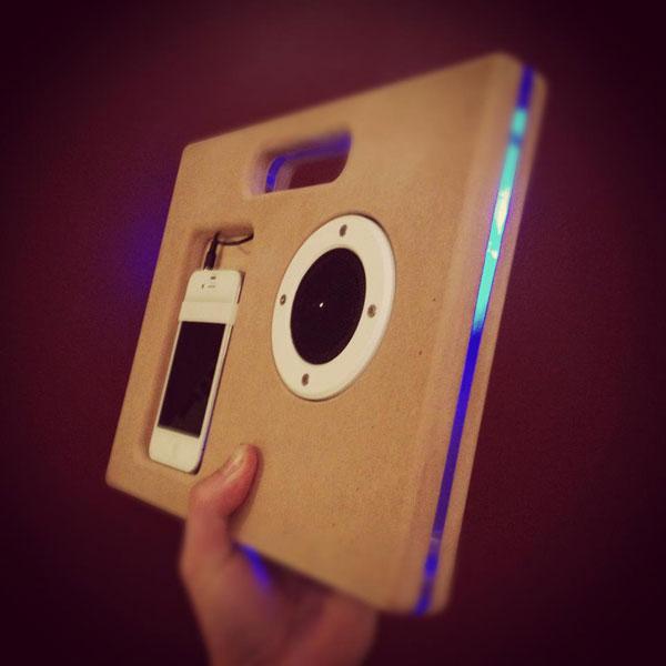 Build an iPhone Boombox on a ShopBot