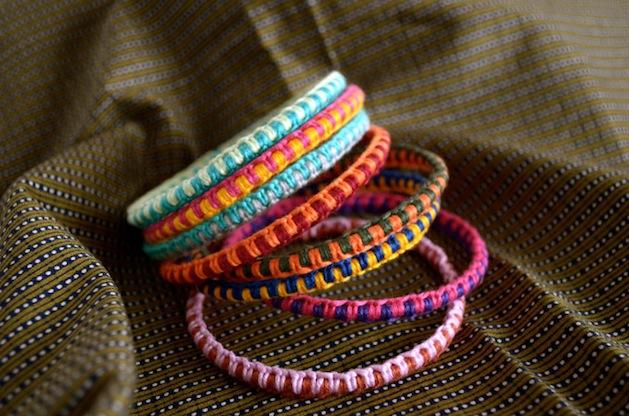 How-To: Macramé  Bangle Bracelets