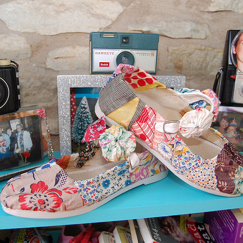 How-To: No-Sew Fabric Scrap Shoes