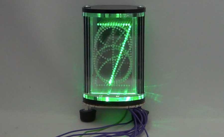 Edge-lit LED Nixie Tube Style Display