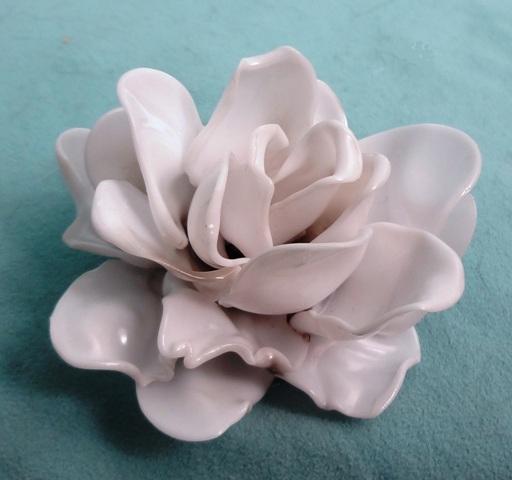 Repurposed Plastic Spoons Rose