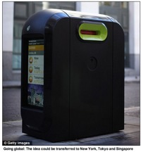 NEWS FROM THE FUTURE – LCD-Equipped Wi-Fi Garbage Cans