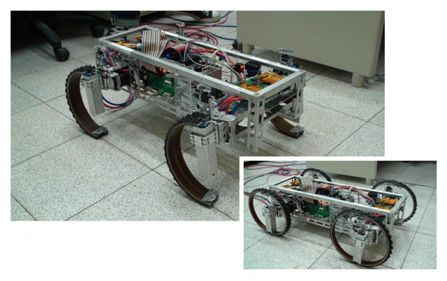 Robot's Wheels Transform Into Legs