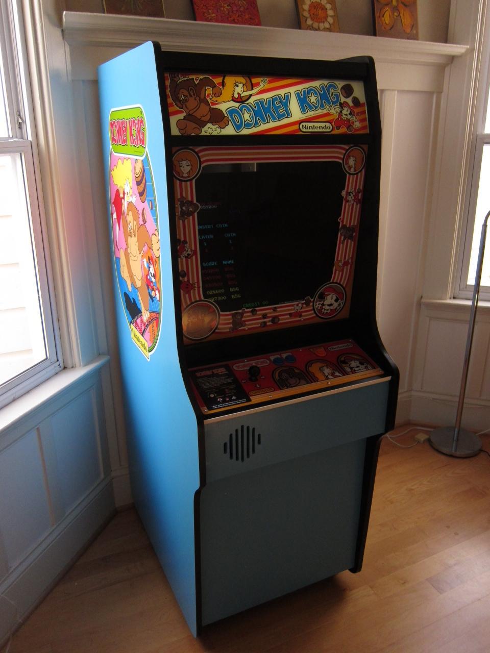 Scratch Built Donkey Kong Arcade Cabinet