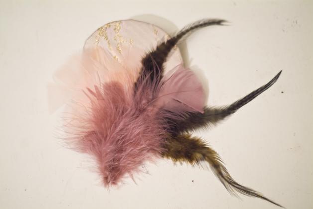 Flashback: DIY Feather and Brocade Headpieces