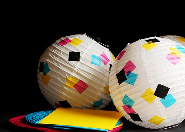 CMYK Paper Lanterns