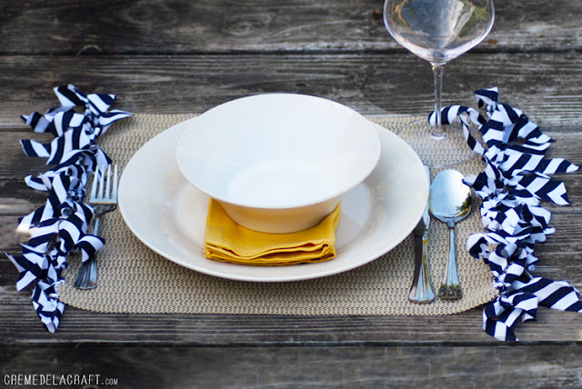 How-To: Fringed Drawer Liner Placemats