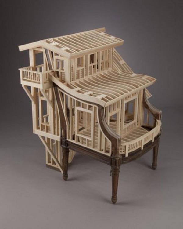 A House Built into a Chair