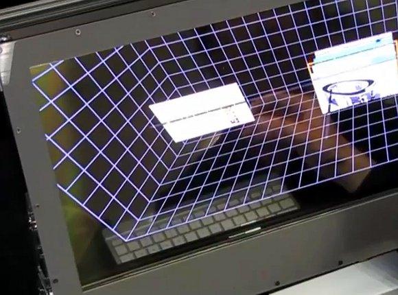 An AR Desktop Behind a Clear LCD