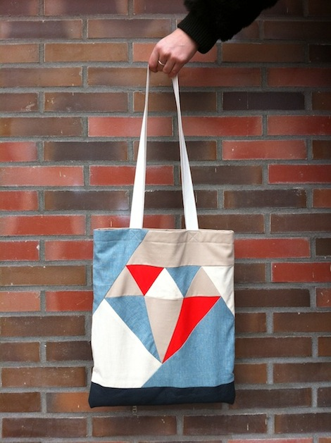 How-To: Diamond Patchwork Tote Bag