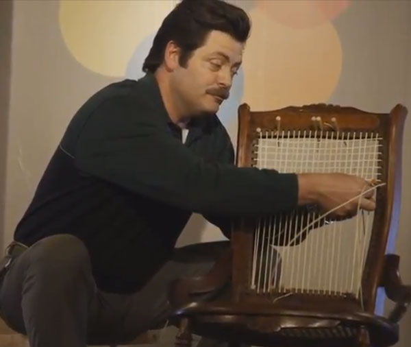 """Tour the Woodshop of """"Parks & Recreation"""" Actor Nick Offerman"""