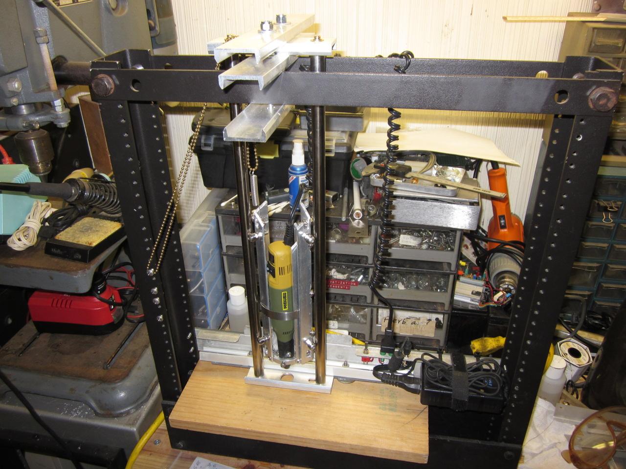 Homebuilt PCB Drill Press