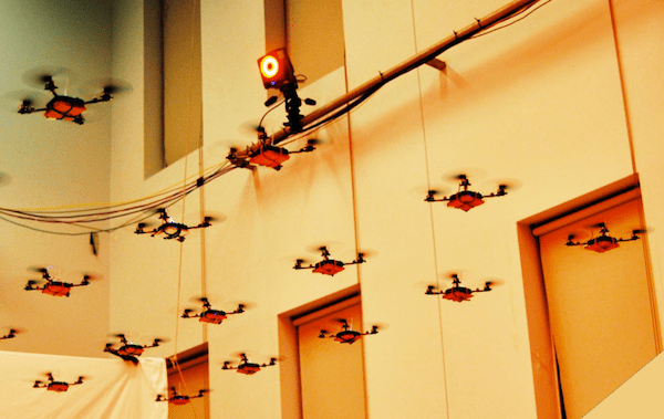 Mini Quadrotors Play the James Bond Theme