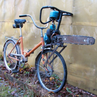 Chainsaw Bicycle