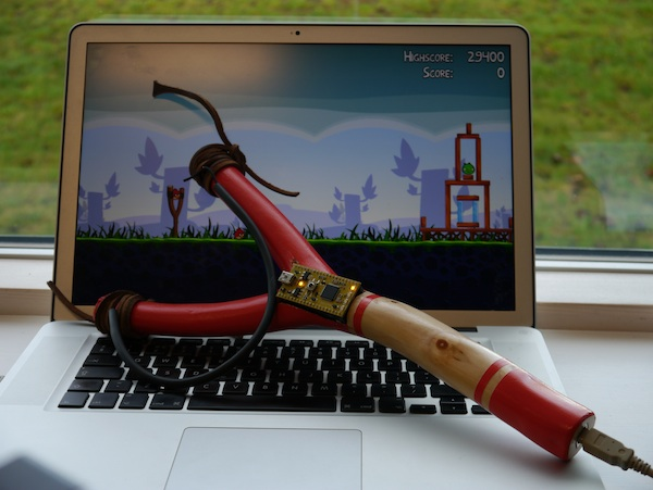 Interactive Angry Birds USB Slingshot