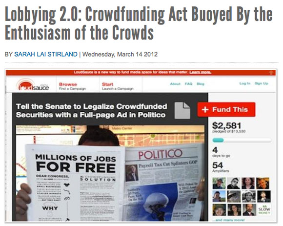 """Lobbying for Crowdfunding So Makers Can """"Go Pro"""""""