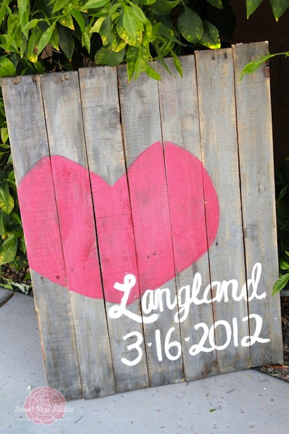 How-To: Pallet Art Wedding Gift