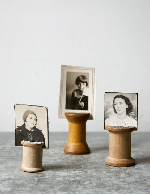 How-To: Wooden Spool Picture Holder