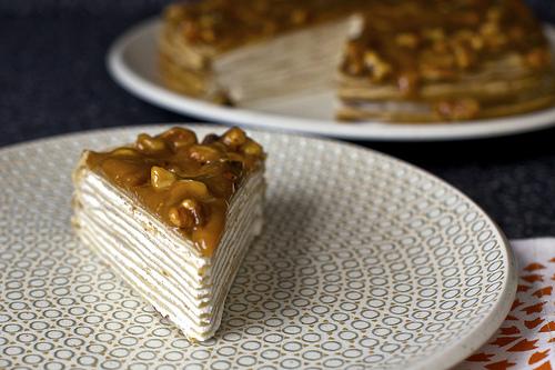 Recipe: Banana Bread Crepe Cake With Butterscotch