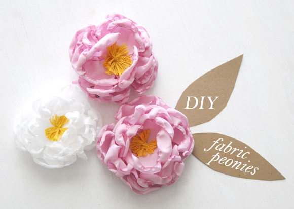 How-To: Fabric Peony Flowers