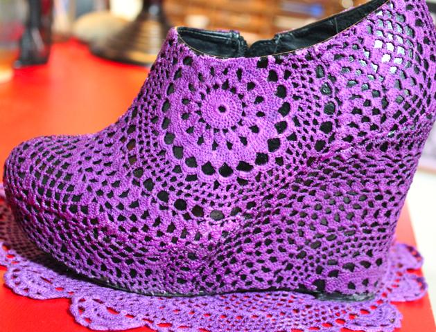 Flashback Video: DIY Doily Shoes