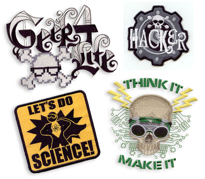 Free Hacker-Themed Embroidery Machine Designs