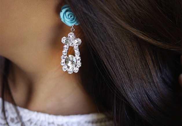 How-To: DIY Prada-Inspired Rose Earrings