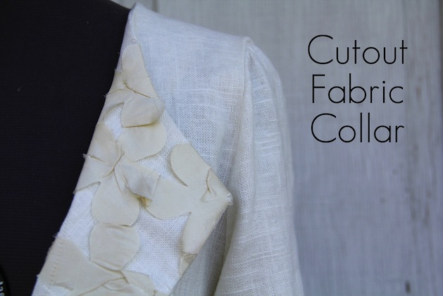 How-To: Fabric Cutout Embellished Collar