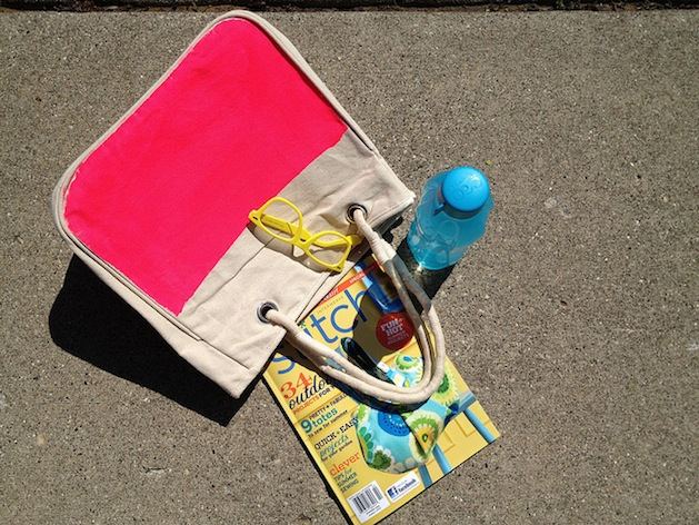 How-To: Easy Neon Canvas Tote