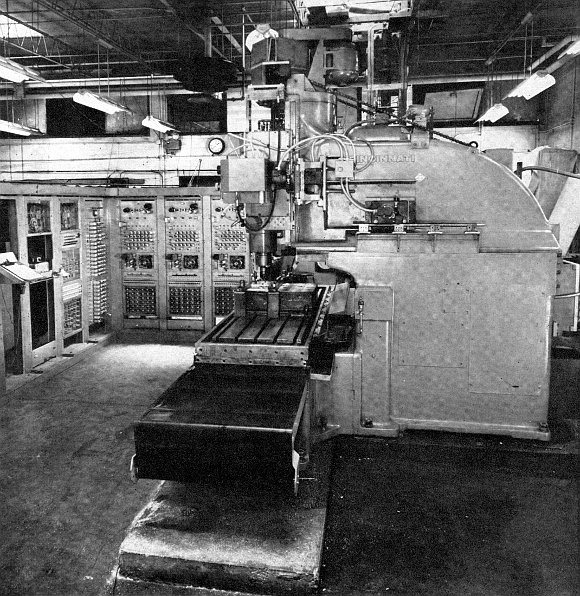Punch Tape Programmable Metal Mill from 1952