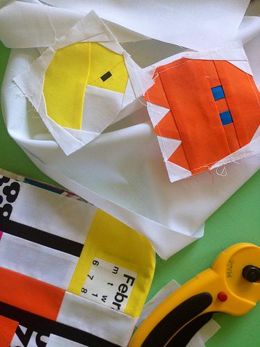 Pac-Man Quilt Blocks
