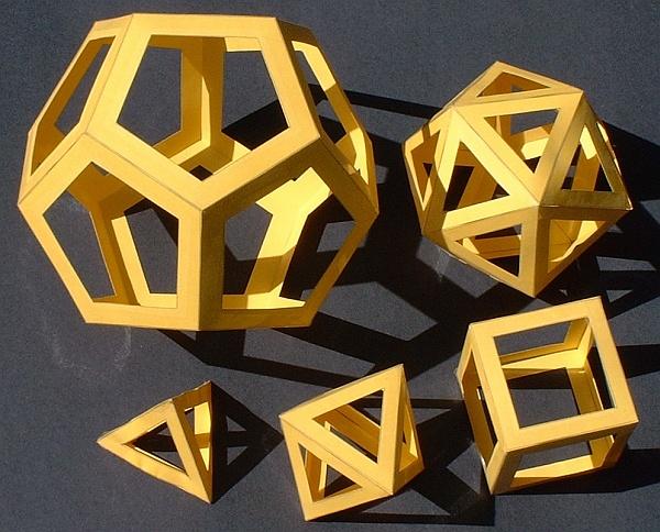 Math Monday: Paper Polyhedra