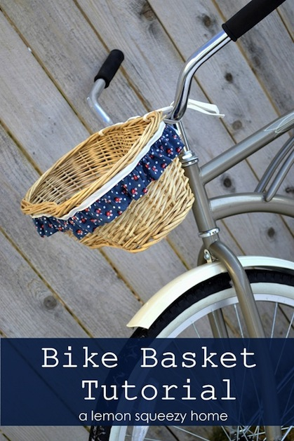 How-To: Ruffled Bicycle Basket